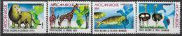 1992 MOZAMBIQUE 1249-52** Parc National, Animaux, Lion, Girafe - Mozambique