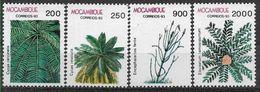 1993 MOZAMBIQUE 1255-58** Flore, Arbres, Palmier - Mozambique