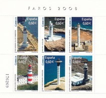 2008,  Spanien, 4345/50 Block 175, Leuchttürme (II).  MNH ** - 2001-10 Unused Stamps