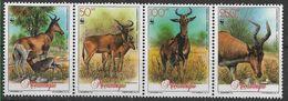 1991 MOZAMBIQUE 1190-93 ** WWF,  Animaux - Mozambique