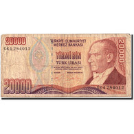 Billet, Turquie, 20,000 Lira, 1995, 1995, KM:202, B - Turkey