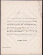 VOUZIERS Marie De MIROY Veuve DEA Ancien Maire Conseiller Général Des ARDENNES 61 Ans 1860 De MEUGY MOUTON MONTGUYON - Décès