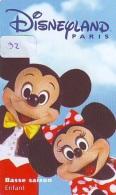 Carte Disney - Disneyland Paris Parc Disney's (32) MICKEY & MINNIE *Passeport Euro Disneyland PASSE-PARTOUT - Disney