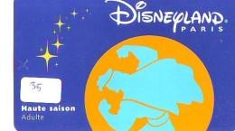 Carte Disney - Disneyland Paris Parc Disney's (35)  * Passeport Euro Disneyland PASSE-PARTOUT - Disney