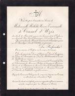UZES Mathilde De CRUSSOT D'UZES 62 Ans 1913 Famille De LUYNES De BRISSAC De MORTEMART De CRUSSOL - Décès