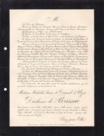 UZES PARIS Mathilde De CRUSSOL D'UZES Duchesse De BRISSAC 33 Ans 1908 De TERDERN - Décès