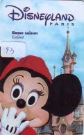 Carte Disney - Disneyland Paris Parc Disney's (43) MICKEY MOUSE * Passeport Euro Disneyland PASSE-PARTOUT - Disney