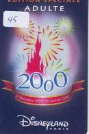 Carte Disney - Disneyland Paris Parc Disney's (45) SPECIAL EDITION * Passeport Euro Disneyland PASSE-PARTOUT - Disney