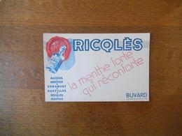 RICQLES LA MENTHE QUI RECONFORTE ALCOOL DE MENTHE.VERAMINT.PASTILLES.FEUILLES DE MENTHE - Buvards, Protège-cahiers Illustrés