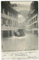SWITZERLAND Flooding In Bern June 1910 Photo Card Matte Überscwemmung - BE Bern