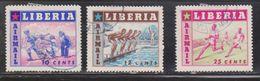 LIBERIA Scott # C88-90 Used - Sports On Airmail Issue - Liberia