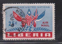 LIBERIA Scott # C70 Used - Flags On Airmail Issue - Liberia