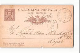 16157 01  CARTOLINA POSTALE CAMPOMAGGIORE X NAPOLI  - 1886 - Marcophilia