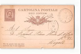 16157 01  CARTOLINA POSTALE CAMPOMAGGIORE X NAPOLI  - 1886 - 1878-00 Umberto I