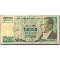 Billet, Turquie, 50,000 Lira, 1995, 1995, KM:204, TB - Turkey