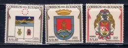 Ecuador C334/336/337 NH 1958 Airmail Issues - Ecuador