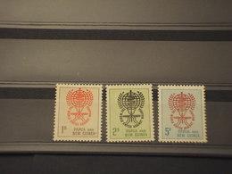 PAPUA - 1962 MALARIA/SERPENTE 3 VALORI - NUOVI(++) - Papua Nuova Guinea