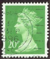GB 1996 Yv. N°1876 - 20p Vert-jaune - Oblitéré - Machin-Ausgaben