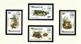 Montserrat 278-81 MNH 1972 Reptiles - Montserrat