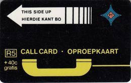 Black Trial Card Yellow Arrow A030011 - South Africa