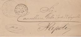 Vietri Di Potenza. 1894. Annullo Grande Cerchio,  Su Lettera In Franchigia. - Marcofilie