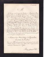 PARIS Anne De GIRARDIN Comtesse De LUDRE 85 Ans 1886 Famille De BRIEY D'ETHE De MUN D'URSEL De VAULOGE - Décès