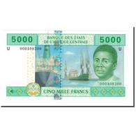 Billet, États De L'Afrique Centrale, 5000 Francs, 2002, KM:209U, SPL+ - Zentralafrikanische Staaten