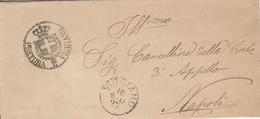 Viggiano. 1893. Annullo Grande Cerchio + Annullo PRETURA VIGGIANO,  Su Sovracoperta - Marcophilia