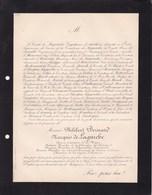 PARIS Philibert Marquis De LAGUICHE Ancien Député Conseiller Général SAONE Et LOIRE Famille De MERODE 75 Ans 1891 - Décès