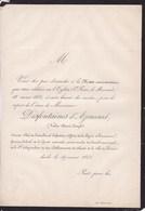 DOUAI Valère DESFONTAINES D'AZINCOURT 1861 Messe Anniversaire - Décès