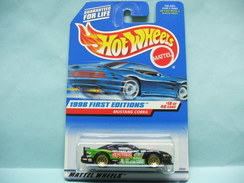 Hot Wheels - FORD MUSTANG COBRA - 1998 First Editions - Collector 665 HOTWHEELS US Long Card 1/64 - HotWheels
