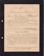 LONGWY Baron Gustave D'ADELSWARD Décédé à Paris 52 Ans 1895 Famille De POURTALES - Décès