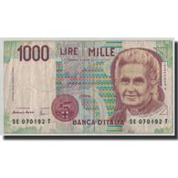 Billet, Italie, 1000 Lire, 1990, 1990-10-03, KM:114c, B+ - [ 2] 1946-… : République