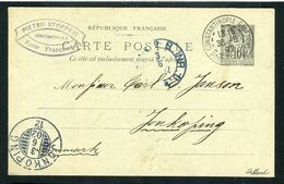 Rare Entier Postal De Constantinople Galata Pour Jonkoping ( Danemark 1902 ) - 1876-1898 Sage (Type II)