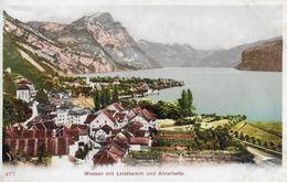 WEESEN → Dorfansicht Gegen Leistkamm Und Alvierkette, Ca.1900 - SG St. Gallen