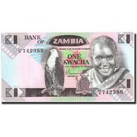 Billet, Zambie, 1 Kwacha, Undated (1980-88), Undated, KM:23a, NEUF - Zambie