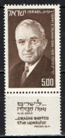 ISRAELE - 1975 - US President Harry S Truman (1884-1972) - MNH - Israele