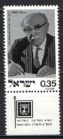 ISRAELE - 1975 - Pres. Zalman Shazar (1889-1974) - MNH - Nuovi (con Tab)