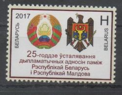 BELARUS, 2017, COAT OF ARMS, RELATIONS WITH MOLDOVA, 1v - Stamps