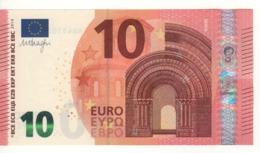 "10 EURO  ""NB""     Firma DRAGHI    N 010 E4   Serie  NB4510373589  /  FDS  - UNC - EURO"