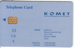 RUSSIA - Komet Telecard US$10, Tirage 3000, Used - Russia