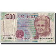Billet, Italie, 1000 Lire, 1990, 1990-10-03, KM:114b, B - [ 2] 1946-… : République