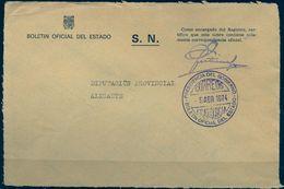 1974, MARCA DE FRANQUICIA PRESIDENCIA DEL GOBIERNO - BOLETÍN OFICIAL DEL ESTADO - 1971-80 Cartas