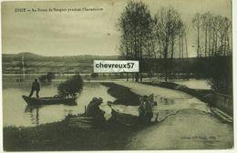 EPISY - La Route De Sorques Pendant L'Inondation - Autres Communes