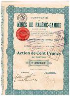 Action Ancienne - Compagnie Des Mines De Falémé-Gambie - Titre De 1922 - Mines
