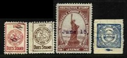 UNITED STATES, Union Stamps, */o M/U, F/VF - Revenues
