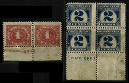 UNITED STATES, Plate Blocks, (*) MNG, Ave/F - Fiscaux