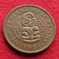 New Zealand 1/2 Half Penny 1961  Nova Zelandia Nuova Zelanda Nouvelle Zelande Wºº - Nouvelle-Zélande