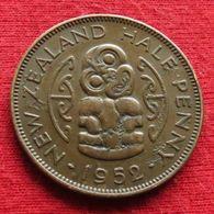 New Zealand 1/2 Half Penny 1952  Nova Zelandia Nuova Zelanda Nouvelle Zelande Wºº - Nouvelle-Zélande