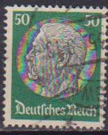 GERMANIA REICH REP.DI WEIMAR 1932-33 EFFIGE HINDENBURG UNIF. 458 USATO VF - Usati